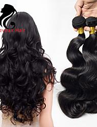 1bundles color natural de la onda del cuerpo del pelo brasileño 8-26inch cabello humano virginal teje
