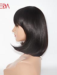 New Fashion Machine Made Wigs Dark Brown Human Hair Wigs BOB Hair Style 12inch Remy Hair Wigs Cheap Wigs