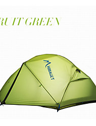 HIMAGET®Double Layer 2 Person Outdoor Equipment Waterproof Light Weight 2 Door Dome Family Camping Tent