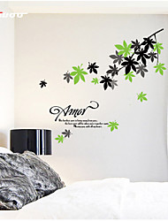 AWOO® New Chinese Rose Wall Art Decal Decoration Fashion Wall Stickers Home Decor 3D Wallpaper for Living Room