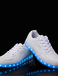 Women's LED Shoes USB charging Flat Heel Comfort Round Toe Fashion Sneakers Casual Black
