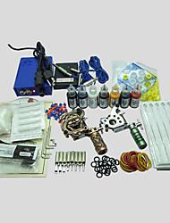 2 Maschinen basekey Tattoo-Set 214-Maschine mit Netzteil Griffe Tassen Nadeln (Tinte nicht im Lieferumfang enthalten)