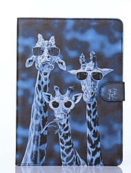 Crazy Deers Pattern PU Leather Full Body Case with Stand for iPad Air 2/iPad 6