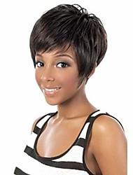 Привлекательный черный цвет женщин способа короткий парик