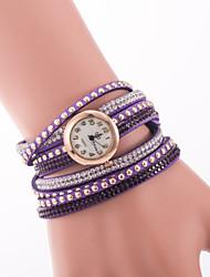 L.WEST Fashion High-end Restoring Ancient Ways Full Drill Rivets South Korea Velvet Quartz Watch Cool Watches Unique Watches