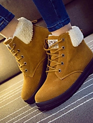 Women's Shoes Suede Winter Snow Boots Outdoor / Office & Career / Party & Evening Flat Heel Black / Red / Khaki