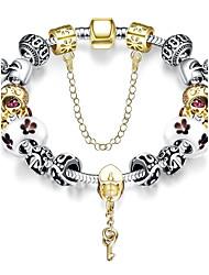 Bracelet Charmes pour Bracelets / Bracelets Vintage Alliage / Plaqué argent Soirée / Quotidien / Décontracté Bijoux Cadeau Vert,1pc