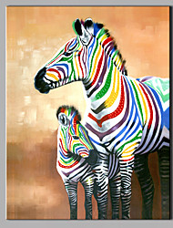 Single Modern Abstract Pure Hand Draw Ready To Hang Decorative Oil Painting Zebra