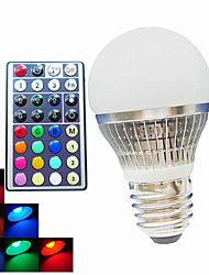 4W B22 / E26/E27 Lâmpada Redonda LED A50 1PCS LED de Alta Potência 300LM lm RGB Regulável / Controle Remoto / Decorativa AC 100-240 V 1 pç