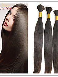 3pcs / lot 1b # color natural extensión de bulto del pelo 100% real barato pelo a granel malasio recto natural para el trenzado