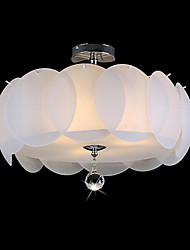3 Light Glass Chandelier/ Modern Pendant Light/ Dinning Room, Living Room, Family Room, Bedroom
