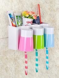 Bathroom Set Toothbrush Holder Wash Gargle Suit Creative Bathroom Accessories Plastic Bath Set Storage Box