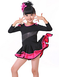 Girl's Costumes Stage performance Clothing Long-Sleeved Dress Uniforms