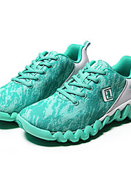 Women's Running Shoes Tulle Green / Red