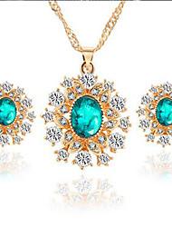neve diamante set brincos liga colar (1set)