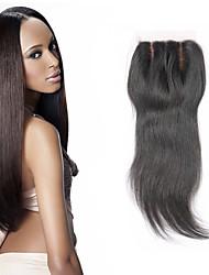 Cheap 7A Straight Virgin Closure 4X4 Swiss Silk Virgin Hair Closure Silk Base Straight Middle/Free/3 Part Top Closure