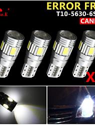 4x canbus coin t10 blanc 192 168 194 W5W 6 5630 LED SMD erreur ampoule lumière 12v gratuitement
