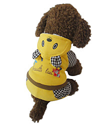 Dog Costumes/Dog Coats/Dog Jumpsuits/Jackets-M/L/XL-Winter-Yellow-Warm-Cartoon Bear
