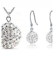 MISSING U Women Cute / Party Silver Plated / Brass / Cubic Zirconia Necklace / Earrings Jewelry Sets