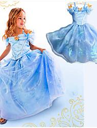 Vestido ( Misto de Algodão ) KID - Casual / Romântico / Festa
