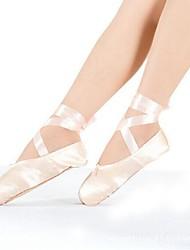 Non Customizable Women's / Kids' Dance Shoes Satin Satin Ballet Sneakers Flat HeelPractice / Beginner / Professional / Indoor /