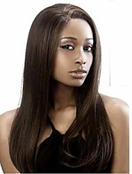 Top Quality Black Color Long Straight Hair Synthetic Wigs