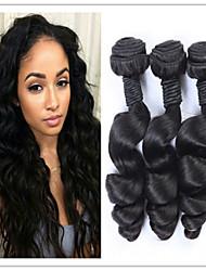 3pcs / lot gonfiabili estensioni dei capelli non trattati economici vergine brasiliana dei capelli umani onda allentata tessere