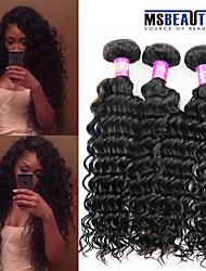 """3 unidades / lote 8 """"-30"""" 7a brasileiras virgens extensões de cabelo de onda profunda 100% cabelo humano virgem não transformados tece"""