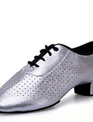 Latin Children's  Dance Shoes Heels  Low Heel Silver/Red
