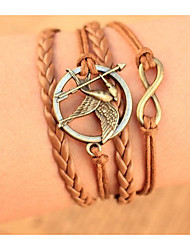 Unisex Multilayer Leather Bracelet  Mockingjay The Hunger Games