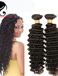 3Bundles cabelo humano profundo onda cabelo peruano 8-26inch cor natural virgem tece