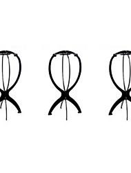 sostenedor del soporte de la peluca negro, peluca portátil de pie trípode para secador de peluca, 3packed negro
