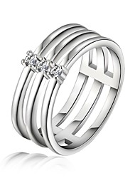 925 Silver Plated statement Rings Wedding/Party/Daily/Casual 1pc
