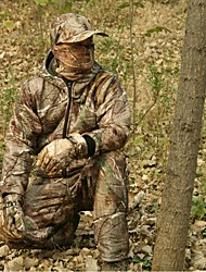 Men Winter Camo Hunting Suit Camo Jacket Coat for Outdoor Hunting & Fishing(Jacket+Trousers+peaked cap+Neckerchief)