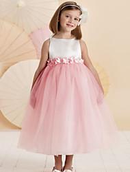 Girl's Blue / Pink Dress , Dot Cotton / Polyester All Seasons