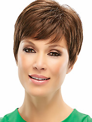 Exquisite Virgin Remy Human Hair Hand Tied -Top Short  Straight Woman's Wig