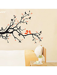 AWOO® New Pattern Branch Birds Wall Art Decal Decoration Fashion  Wall Stickers Home Decor 3D Wallpaper for Living Room