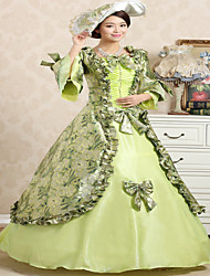 Steampunk®Top Sale Light Green Printing Princess Dress Victorian Party Dress Long Theme Movie Prom Dresses