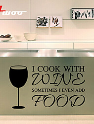 New Wine Glass Pattern Removable Waterproof Wall Sticker Home Decor Vinyl Wall Decal