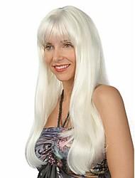 più recenti estensioni parrucche bianco onda capelli sintetici bello stile e prezzo più basso