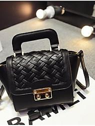 Women PU Baguette Shoulder Bag - Gold / Black