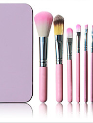 Taobao Selling 7 Pink Iron Boxed Makeup Brush Set