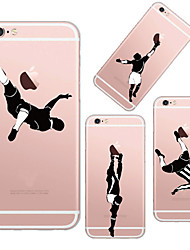 For iPhone 6 Case / iPhone 6 Plus Case Transparent / Pattern Case Back Cover Case Playing with Apple Logo Soft TPUiPhone 6s Plus/6 Plus /