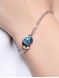 925 Sterling Silver Heart Love Bracelet Christmas Gifts