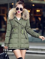 Cappotto Da donna Piumino Casual Manica lunga Poliestere