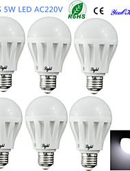 Lampadine globo LED 9 SMD 5630 YouOKLight B E26/E27 5W Decorativo 400 LM Luce fredda 6 pezzi AC 220-240 V