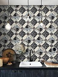 Geométrica Papel pintado Clásico Revestimiento de pared , PVC/Vinilo 3D wallpaper