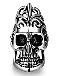 Unique Star Celebrity Men Skull Ring Magic Movie Props Black Vintage Punk Style Women Men's Titanium steel Finger RIngs