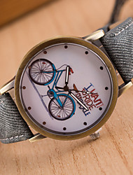 britânico relógios do vintage da menina denim estilo