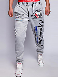 Men's Sweatpants , Sport Print Polyester
